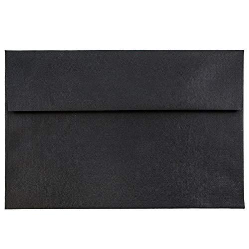JAM PAPER Sobres de Invitación - 133,3 x 184,1 mm - Lino Negro - Paquete de 50