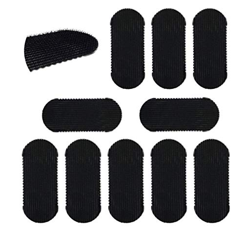 HAIR GRIPPERS BUNDLE PACK 10 PCS for Men and Women - Salon and Barber, Hair Clips for Styling, Hair holder Grips BLACK