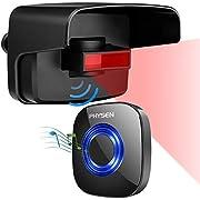 Driveway Alarm,PHYSEN Outdoor Weatherproof Wireless Motion Sensor Detector,Security Alert System,1 PIR Motion Sensor & 1 Plug-in Receiver,58 Chimes/LED Indicator/Mute Mode,500ft Range,For Home/Garage