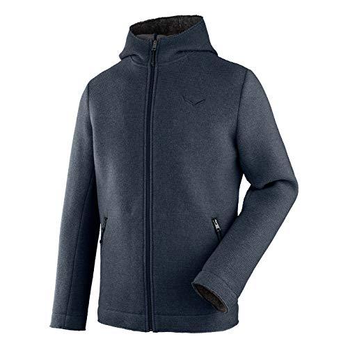 Salewa Sarner 2L Wool Full-Zip Hoody Blau, Herren Freizeitjacke, Größe XL - Farbe Antracite