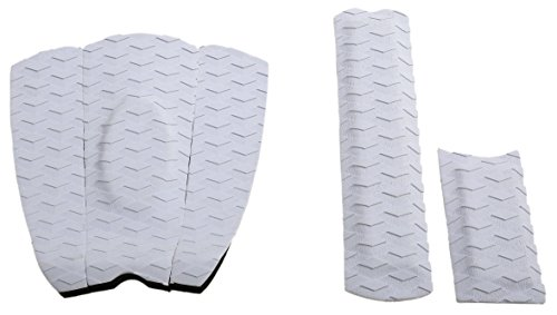 Skimboard Traction Pad - 5 Piece Skim Board Stomp Foot Pads with Arch Bar Set - Maximum Kick Tail Deck Grip for Skimboarding - Premium & Strong 3M Adhesive with EVA Foam for Superb Grip