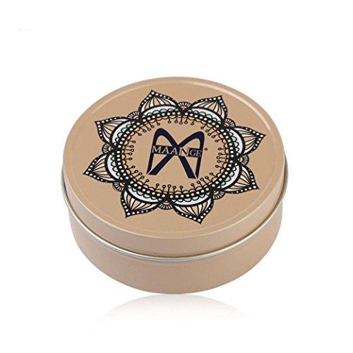 Gaddrt Couleur maquillage pinceau propre oeil ombre éponge nettoyeur outil fer boîte (Doré)