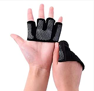 Workout Gloves,Gym Gloves,Weightlifting Gloves,Silicone Padding Half Finger Anti-Skid Glove for Women & Men Cycling Rowing Non-Slip Protect Hands Strong Grip Cross Training Gloves