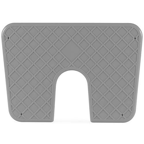 wellenshop Heckschutzplatte für Außenborder 320 x 220 mm Kunststoff Platte Schutz Boot Schlauchboot Spiegel Heck Farbe Grau