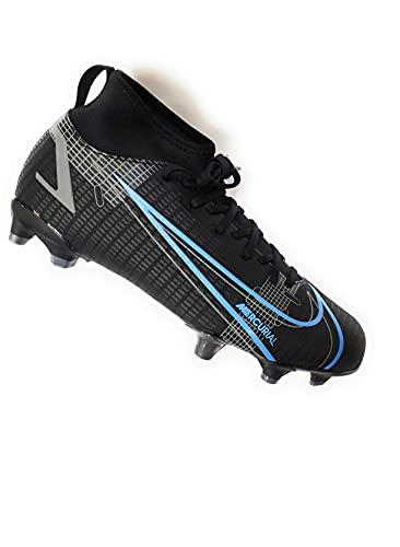 Nike Mercurial Superfly 8 Academy FG/MG, Scarpe da Calcio, Black/Black-Iron Grey, 33.5 EU