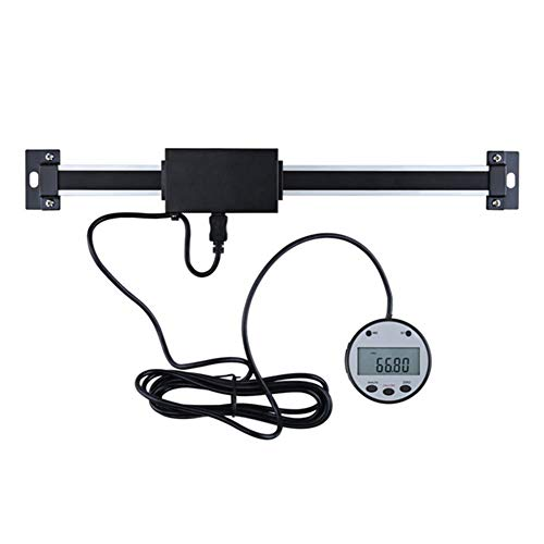 BIKEULTIMATE Linearcodierer/horizontal vertikaler Doppelzweck-Digitalanzeige Skala Werkzeugmaschine Ausrüstung Verschiebungssensor/Gitterpositionierungsskala,0~600mm