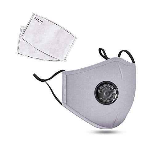 Deep lovly N95 Maske, wiederverwendbar, PM 2,5 Anti-Staub-Masken, waschbar, Anti-Haze Gesichtsmaske Schutzmaske Atemschutzmaske mit Filter-Baumwoll-Blatt