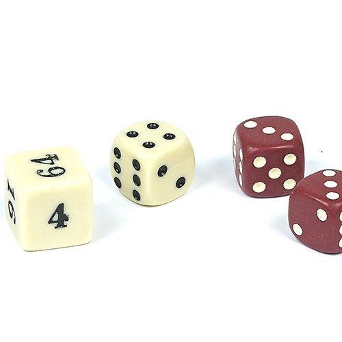 Bello Games Uria Stone Backgammon Dice Sets-Brown/Ivory