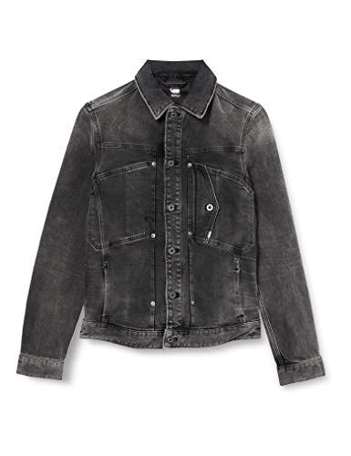 G-STAR RAW Herren Denim Jacket Scutar slim jkt, Antic Charcoal B479-A800, Small