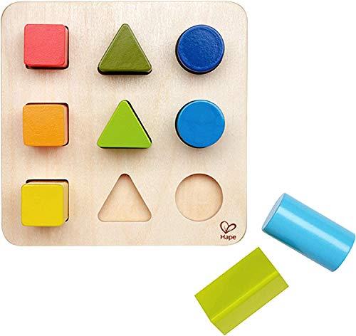 Hape E0426 - Farben- und Formensortierer, Lernspielzeug, aus Holz, ab 12 Monate
