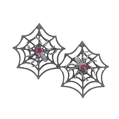 1 par de pendientes de araña para mujeres y hombres, punk, murciélagos, estrellas, Halloween, gotas, colgantes, regalos, cosplay, Halloween, fiestas, joyas para mujeres menores de 5
