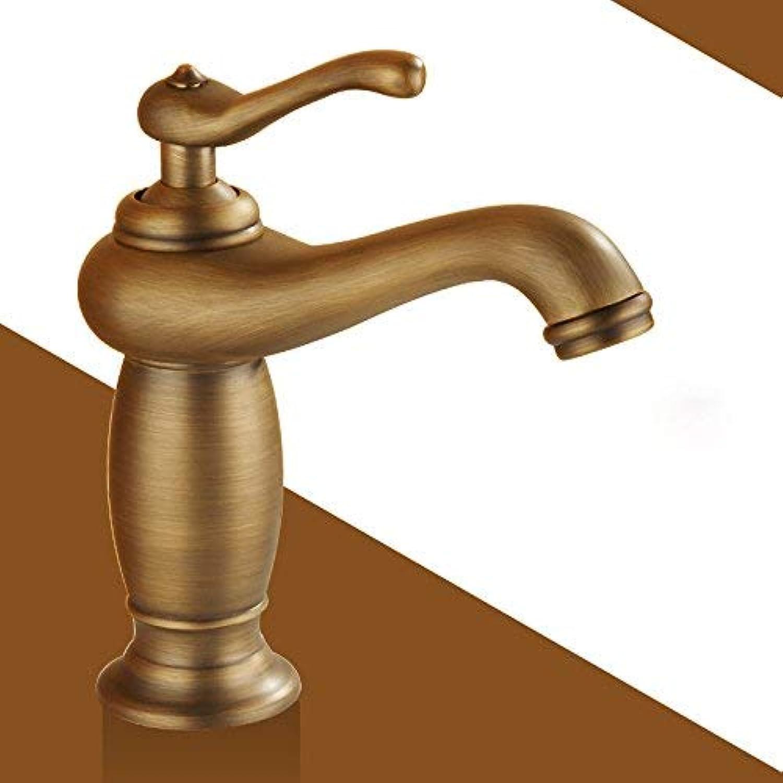 ZHAS Waschbecken Leitungswasser Mischbatterie Voller KupferGold hei und kalt, antike Klassische Standardmodelle