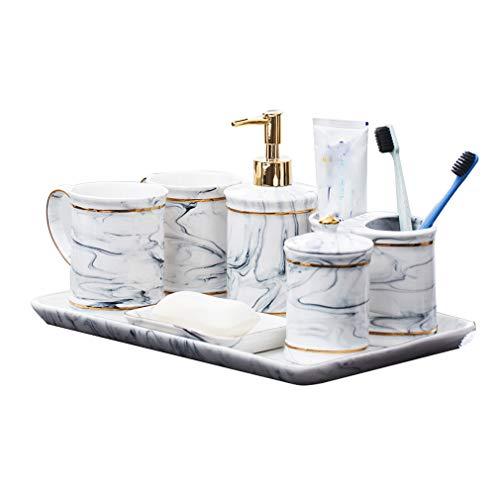 OCEANE Set de Accesorios de baño, 7 Piezas Colección de Set de...