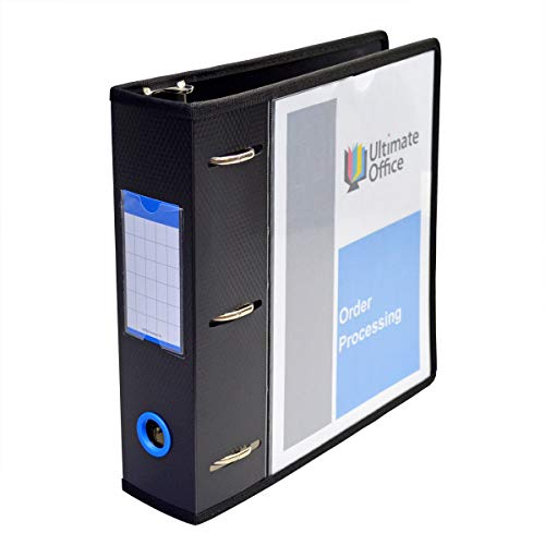 Ultimate Office PortaFile View Binder 2 1/2 inch Heavy-Duty D-Ring Binder Features Locking Cover,...