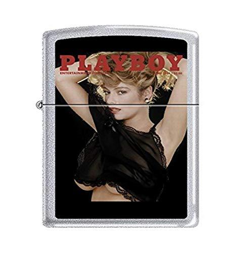 Zippo Playboy Cover June 1988 Pocket Lighter, Satin Chrome