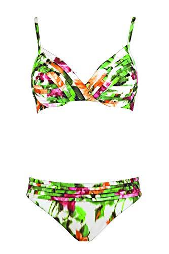 Maryan Mehlhorn, Bikini-Set, Oberteil gefüttert mit Bügel, Chiné 5451 Dess. 709 (42C, Rose-Garden (225))