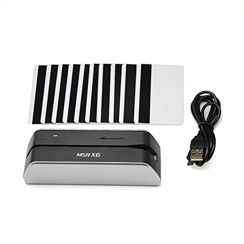 MSRX6 Smallest USB Magnetic Credit Card Reader Writer 1/4 Size of MSR206 MSR605 MSR606 + 10 Cards