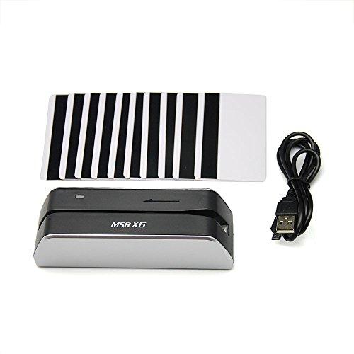 MSRX6 Smallest USB Magnetic Credit Card Reader Writer 1/4 Size of MSR206 MSR605 MSR606 + 10 Cards
