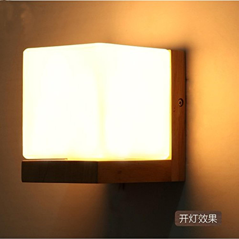 StiefelU LED Wandleuchte nach oben und unten Wandleuchten Nachttischlampe Schlafzimmer Wand lampe Balkon Treppen Flure led Massivholz Wandleuchte