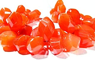 """Jewel Beads 50% Off 6.50"""" Full Strand Natural Carnelian Gemstone, Faceted Twisted Drops, Size 12x7mm to 16x8mm, Gemstone Beads, Code-AUR-39354"""