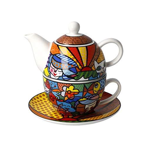 Romero Britto 2020- Juego de té para jardín