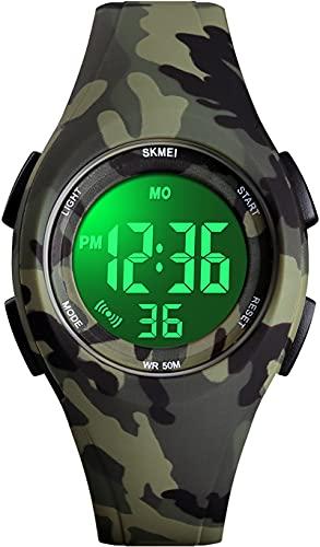 Digitaluhr Outdoor Sport Jugendliche Mädchen Uhr mit Kinder Jungen Digital Kinderuhr 5ATM Wasserdicht Armbanduhr Elektronisch