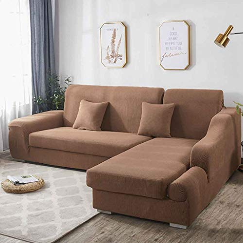 Sofa Cover L-vorm bank hoes Anti-slip Vlekbestendig Machine Washable Furniture Protector Moderne hoekbank Covers (bevat twee sofa covers)