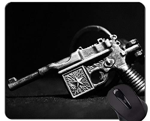 Unique Custom Mouse Pad Mousepad, Guns Ammunition Black White Mouse Pad with Stitched Edge