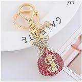 ZJTY Schlüsselanhänger mit Diamant-Gemälde für Damen, Schlüsselanhänger, Schmuck, Schlüsselanhänger, Geschenk Gold