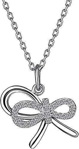 WYDSFWL Collar Collar Mujer Collar con Cristales Swarovski Plata Joyas Collar Regalo