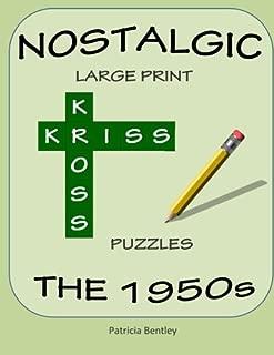 Nostalgic Large Print Kriss Kross Puzzles: The 1950s