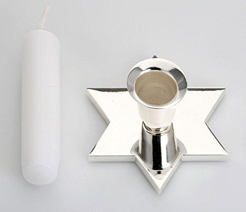 Argent Chandelier étoiles et au ternissement, INCL. Candle