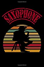 "Saxophone: Music Manuscript Paper, Staff Paper, Musicians Notebook 6"" x 9"",120 Pages"
