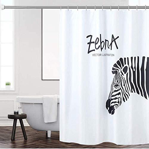 Gordijn Douchegordijn Vintage vormbewijs Schimmelbestendig Bath Curtain decoratieve Waterproof Badkamer Gordijn Zebra Ontworpen Douchegordijn Liner douche Liner for badkamer