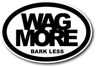 Magnet Me Up Wag More Bark Less Oval Car Magnet Paw Print Auto Truck Decal Magnet