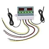 KKmoon ZFX-ST3012 Regolatore di Temperatura Digitale Intelligente per Microcomputer con Doppio Controllo e Display Interruttore di Controllo della Temperatura Termostato Elettrico 220V / 1500W