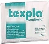 Pack 100 Gasas No Esteril TNT Plegada 10 x 10 30g 4, Esponja de gasa no tejida médica usada para el...
