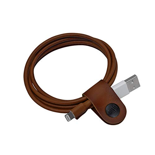 ullu UILCVT100 Leather Covered Lightning Cable for All iPhone, iPad and iPod-HTC Milk Chocolate