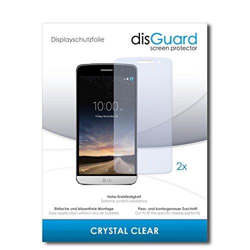 disGuard® Bildschirmschutzfolie [Crystal Clear] kompatibel mit LG Ray X190 [2 Stück] Kristallklar, Transparent, Unsichtbar, Extrem Kratzfest, Anti-Fingerabdruck - Panzerglas Folie, Schutzfolie