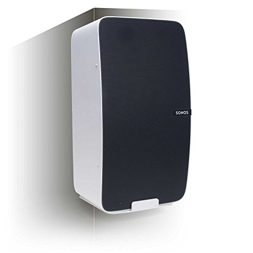 Vebos Corner Wall Mount Sonos Play 5 gen 2 White - Vertical en Optimal Sound Experience in Every Room - Compatible with SONOS Play:5
