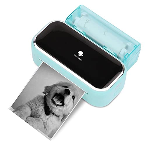Phomemo M03 Pocket Printer- Photo Printer Note Printer Bluetooth Wireless Portable Mobile Printer Thermal Printer Compatible with iOS + Android for Photos, Learning,Study Notes, Journal,Work - Green