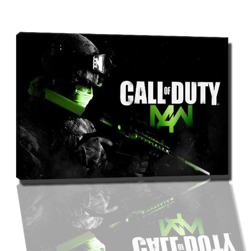 Call of Duty Bild auf Leinwand -- 120 x 80cm fertig gerahmte Kunstdruckbilder als Wandbild - Billiger als Ölbild oder Gemälde - KEIN Poster oder Plakat