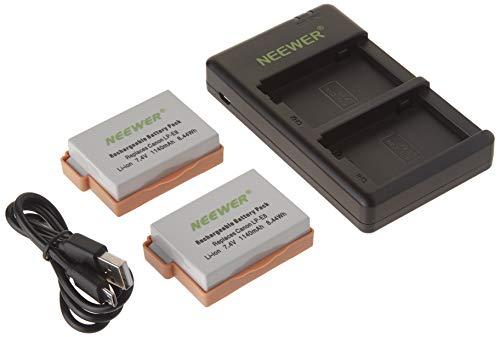 Neewer LP-E8 Kit di Caricabatterie a Doppio Slot Compatibile con Canon EOS Rebel T2i, T3i, T4i, T5i, 550D, 600D, 650D, 700D, Kiss X4, X5, X6i, X7i Fotocamere ed Altre (Non Inclusi T2 T3 T4 T5)