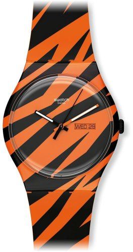 Swatch Unisex-Armbanduhr Analog Plastik SUOZ703