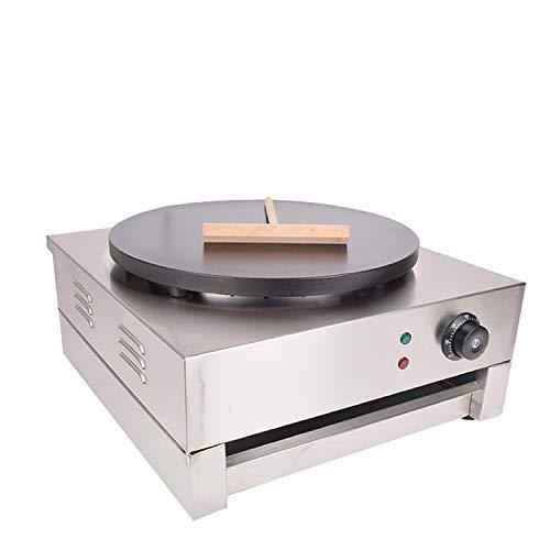 "KOUWO Crepe Machine Electric Square Crepe Maker 16"" Large Pancake Machine Single Plates Crepe Griddle (Silver(110V))"