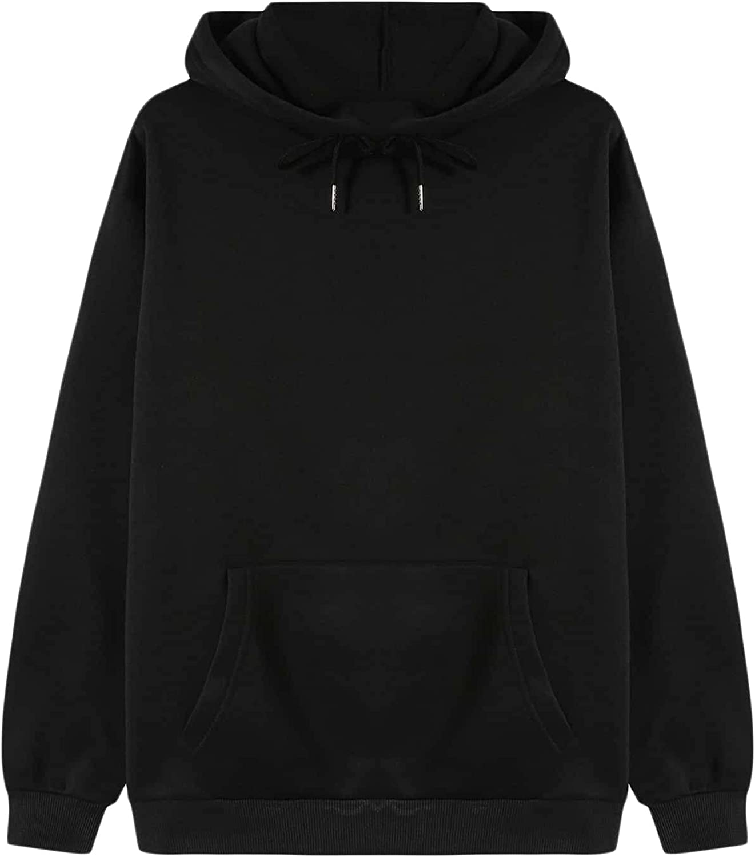 SOLY HUX Women's Casual Long Sleeve Drawstring Hoodie Pocket Front Sweatshirt