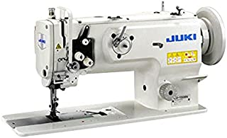 Juki LU-1508NS Single Needle Unison Feed Lock Stitch Machine with Vertical-axis Large Hook Includes Table and Clutch Motor (Table Comes Assembled)