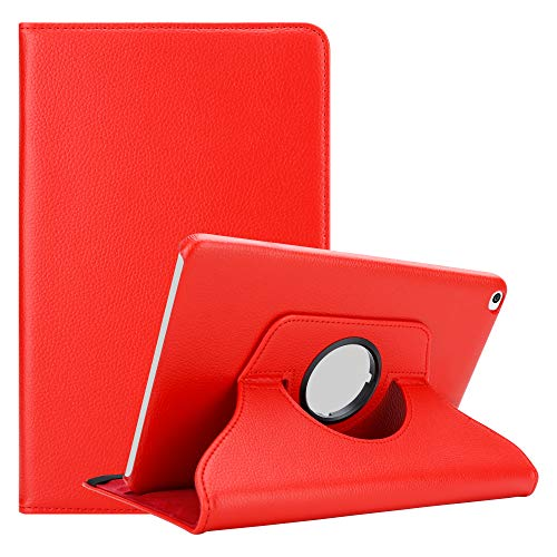 Cadorabo Custodia Tablet per Huawei MediaPad T1 10 (10.0' Zoll) in Rosso Papavero – Copertura Protettiva in Stile Libro Senza Auto Wake Up con Funzione Stand e Cerniera Elastico