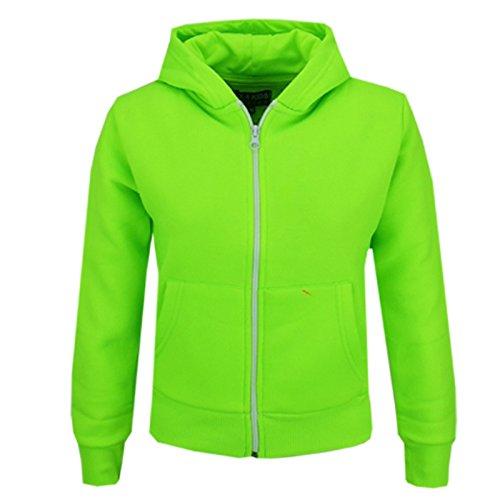 A2Z 4 Kids® Kinder Mädchen Jungen Einfach Vlies Mit Kapuze Hoodie Sweatshirt Zip Up Stil Reißverschluss Größe 5 6 7 8 9 10 11 12 13 Jahre