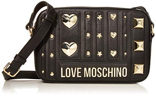 Love Moschino Pu, Borsa a tracolla Donna, (Nero), 15x23x6 cm (W x H x...